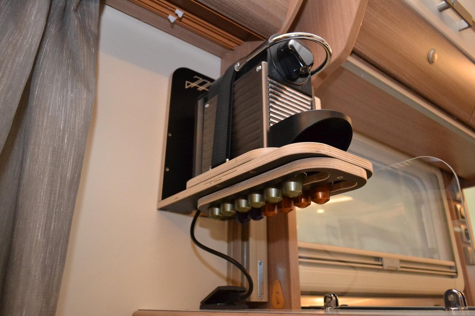 einbau halterung nespresso kaffee maschine airoccino. Black Bedroom Furniture Sets. Home Design Ideas